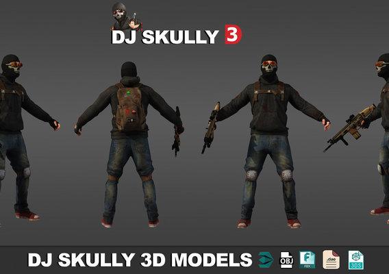 DJ SKULLY 3D MODLES