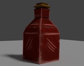 3D asset Low poly healing potion