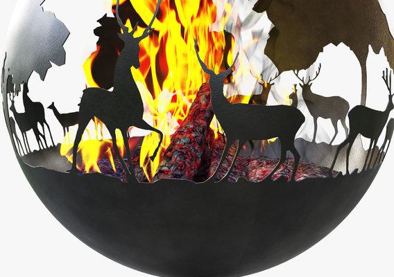 Deer fireplace concept