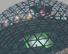 Futuristic Gladiators Arena 3D asset