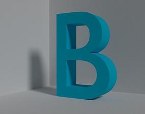 Letter B - font 3D asset
