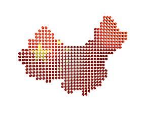 3D model China Map Round Style v1 002