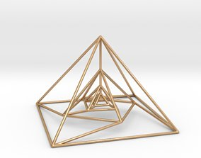 3D printable model Nested Pyramids Rotated