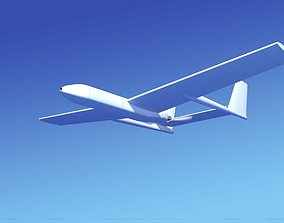 Mohajer 3 Drone Unmarked 3D model