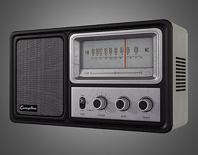 Vintage Radio - Game Ready 3D model