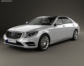 3D model Mercedes-Benz S-Class with HQ interior 2014