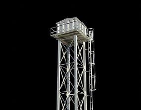 3D model Tower Stanchion Steel Overhead Tank
