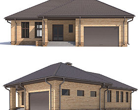 country House with garage 3D