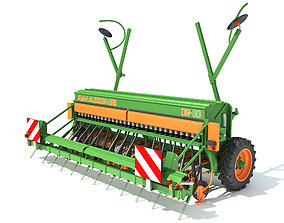 Amazone Seed Drill 3D