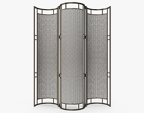 3D Cox London - Iron and rattan screen