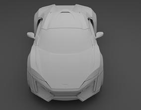 3D Lykan Hypersport Low Poly Model