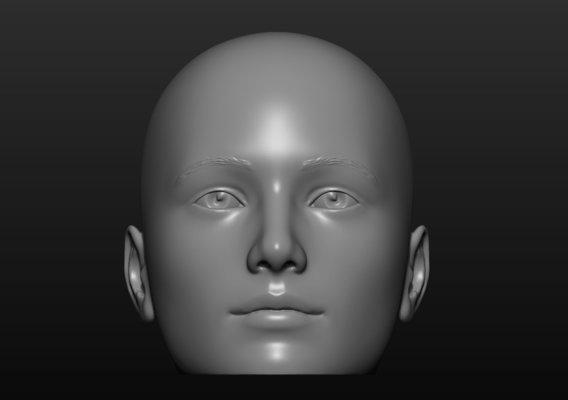 Teen mannequin  head