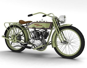 3D model Harley-Davidson 11J 1915