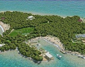 terrain Island Scene 3D model