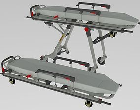 Hospital Stretcher science 3D model