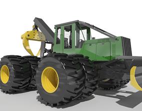 John Deere 640G Skidder 3D asset
