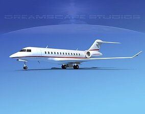 3D Bombardier Global Express 6000 V13