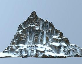 3D model game-ready mountain Mountain