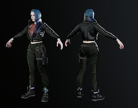 3D model animated Cyber Girl