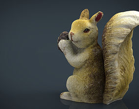 3D model low-poly Squirrel vr