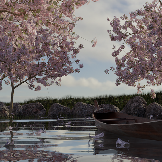 Canoe in the Spring