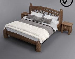3D model hotel Rustic bed