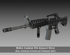 Colt M4A1 Carbine RIS Assault rifle 3D