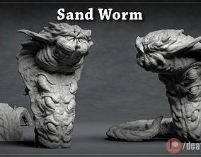 Giant Sand Worm 2 Poses - 3D printable creature 3D print