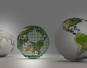 3D model Globe world