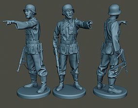 German soldier ww2 warning G2 3D printable model