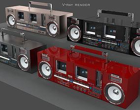 Retro ghettoblaster 3D model