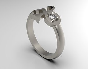 3D print model Prince Sott Mini Side Love Ring With