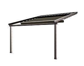 3D model Motorized Pergola 5 worn steel