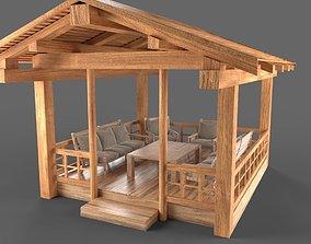 3D Wooden Pavillon