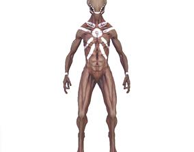 extraterrestrial 3D model Alien Character
