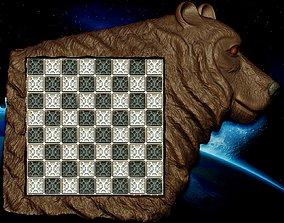 Chessboard bear 3D printable model