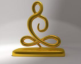 Buddha statue 3D print model modern
