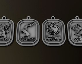 Game of Throne Pendants set 3D print model