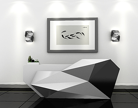 3d Reception Counter Desk
