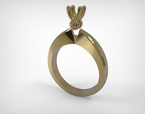 3D printable model Engagement Type Ring Golden Jewelry