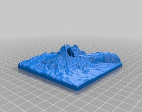 PNG Volcano Map 3D printable model
