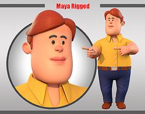 3D asset Cartoon Man Rigged