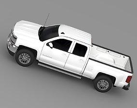 3D Chevrolet Silverado LT Double Cab Standart Box 2016