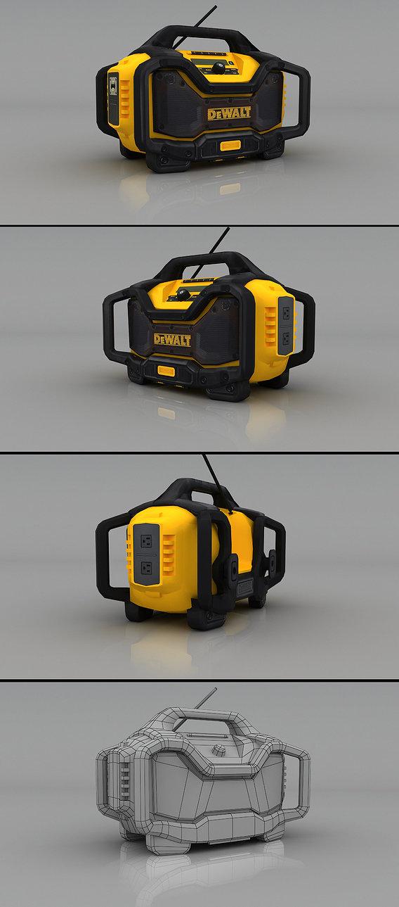 DEWALT Bluetooth Radio & Charger Render
