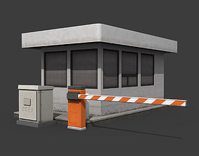 Security Booth 3D asset