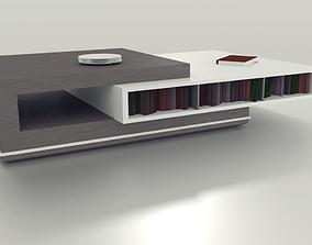 3D model Minimalistic Wood Coffee Table