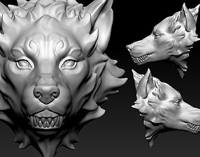 3D printable model games-toys Wolf Head
