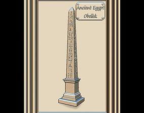 Obelisk with hieroglyphs Panno STL File for CNC 3D model 1