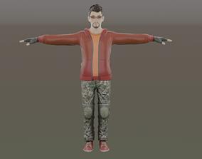 3D asset Stylish Jackey Man Model rigged ready For 2
