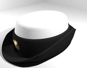 3D model Hat - Peaked Woman